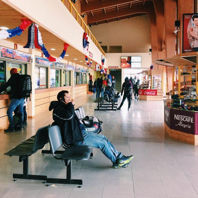 Bus Terminal at Puerto Natales
