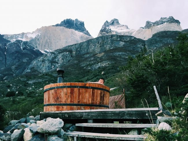 Staying at the cabins in Los Cuernos was a great mid-trek pick-me-up!