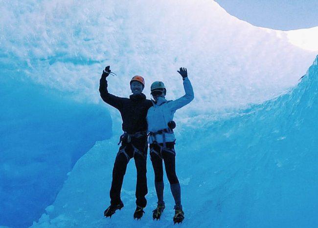 Ice-hiking with Big Foot Patagonia at Glacier Grey!